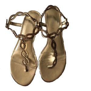 Michael Michael Korda gold sandals